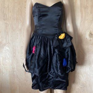 Contempo Casuals Vintage 80s Party Prom Dress 9/10